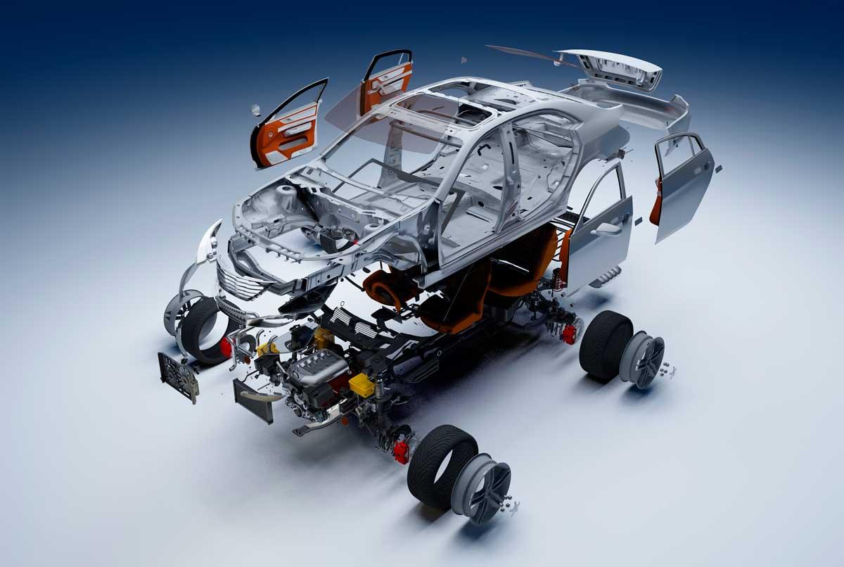 Partes de un coche y su estructura